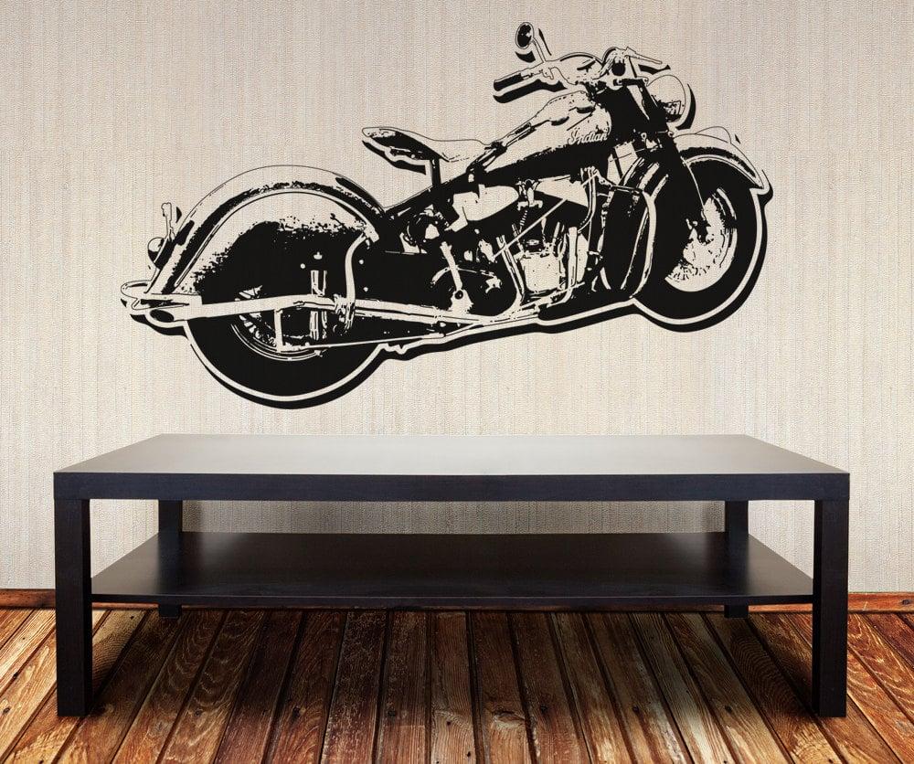 motorcycle wall vinyl