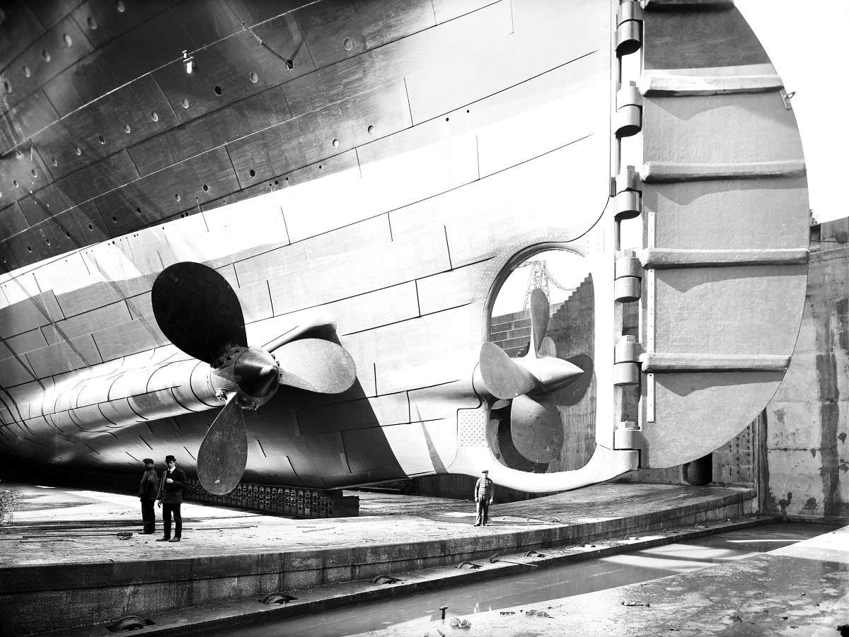 titanic ship propellers and rudder