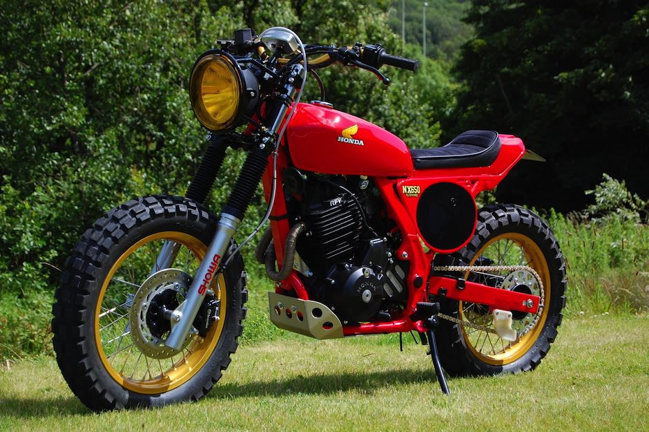 honda dominator nx650 custom tracker. Black Bedroom Furniture Sets. Home Design Ideas