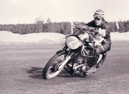 vintage motorcycle racing 450x330 - AJS Flower Delivery