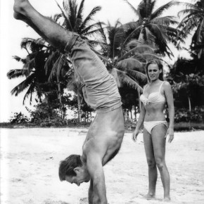 Sean Connery Handstand