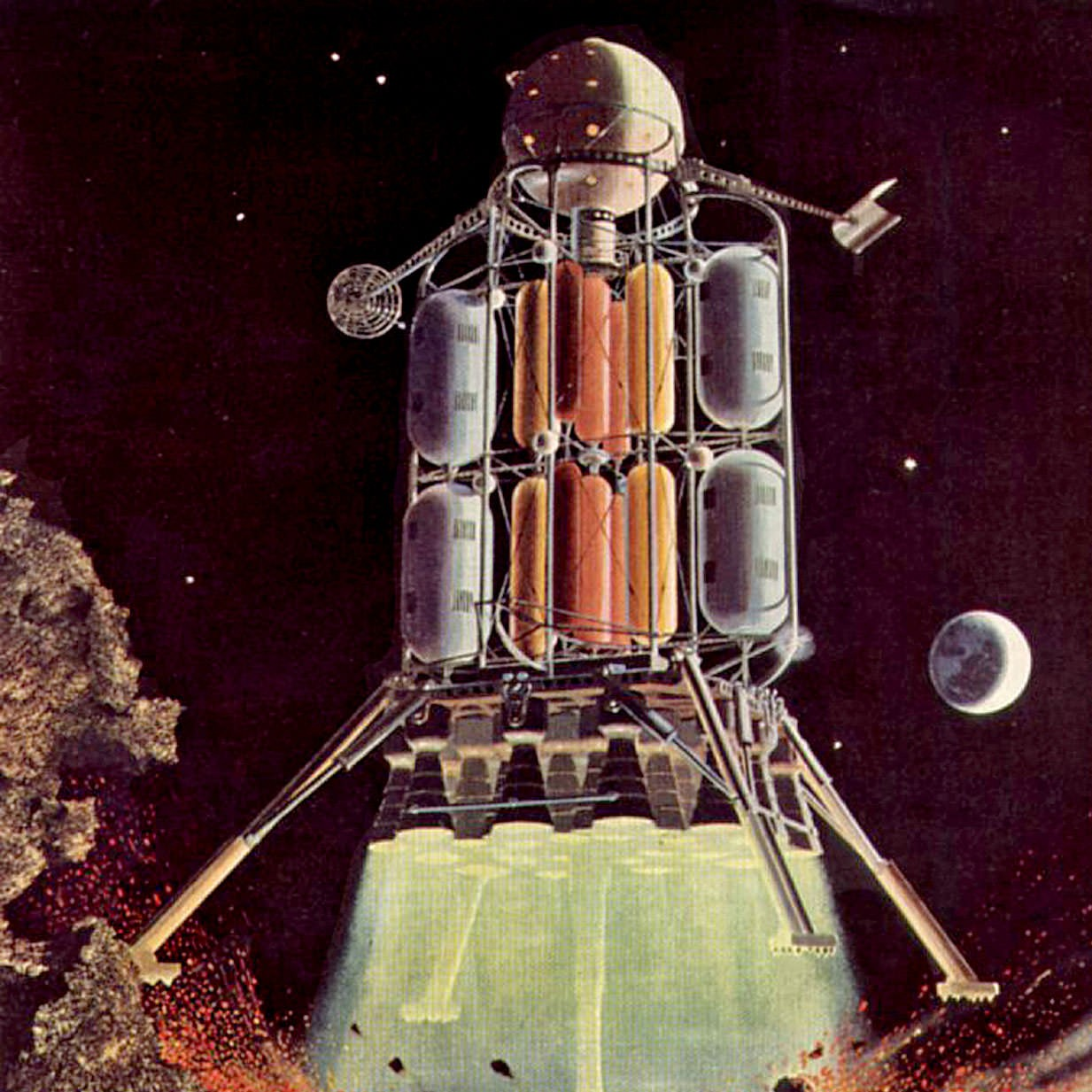 Von Braun's First Lunar Lander Design