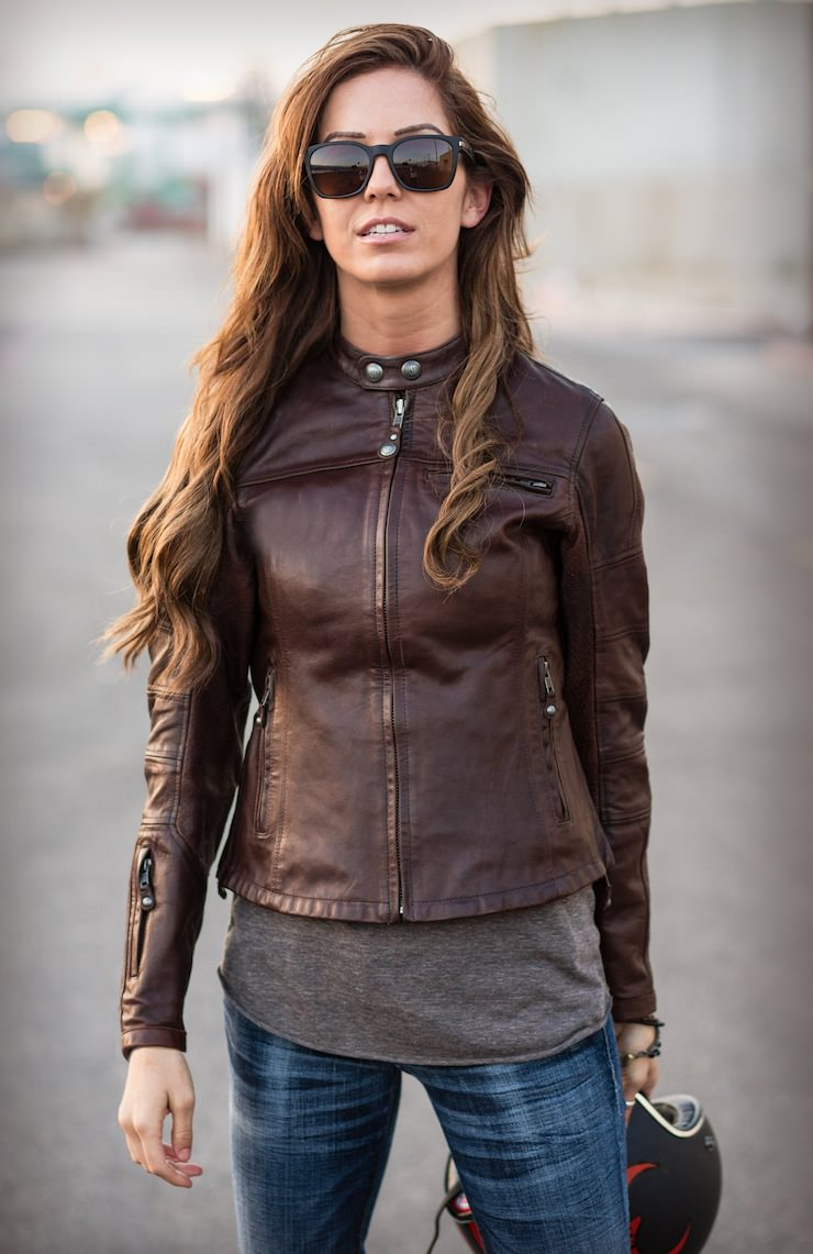 motorcycle jacket jackets leather riding biker womens clothing maven ladies classic moto brown riders lightweight motorcycles outfit bike wear jeans