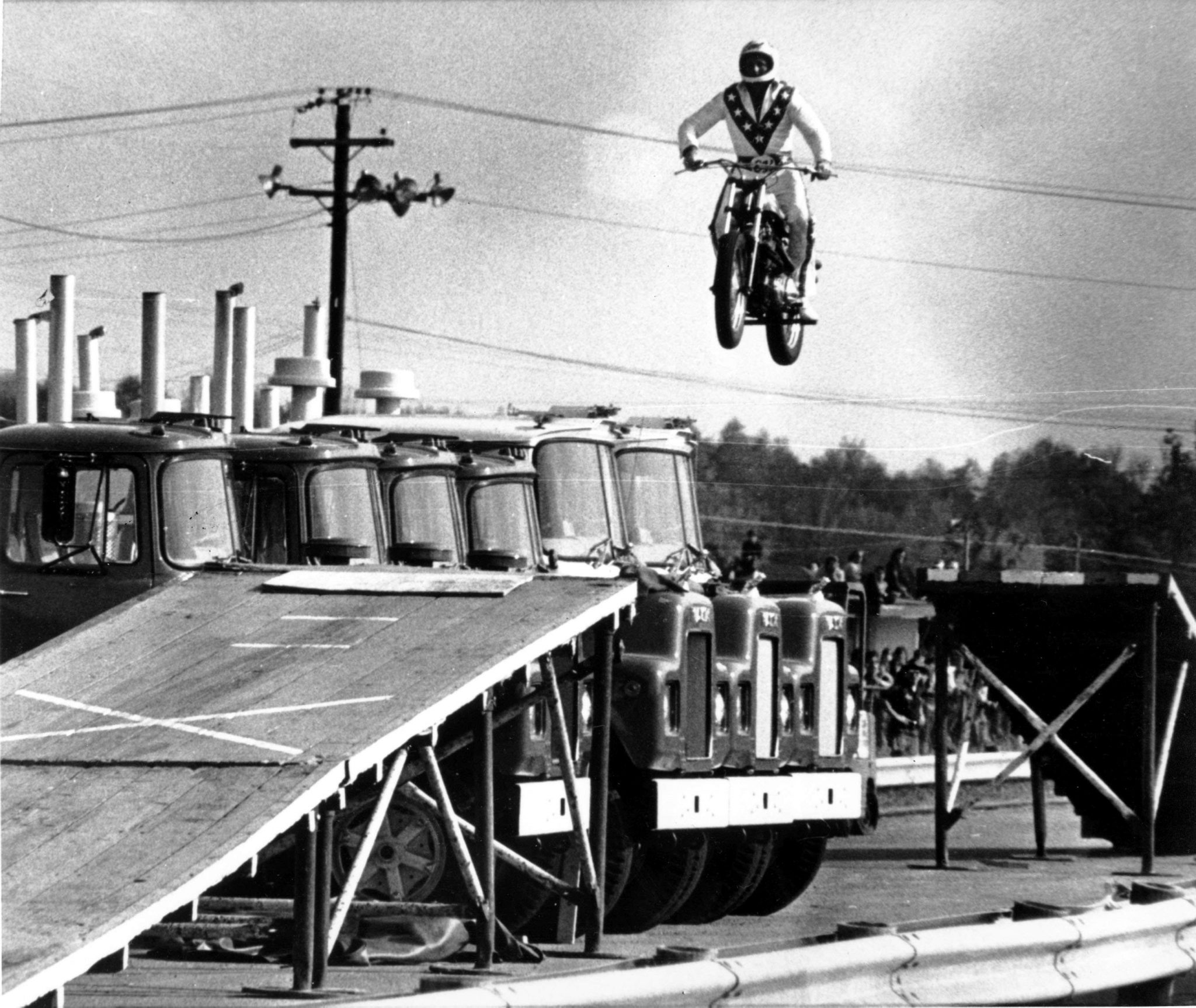 evel knievel jumping