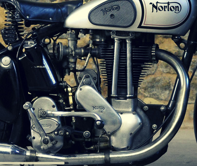 1948 Norton 490cc ES2 Engine Side