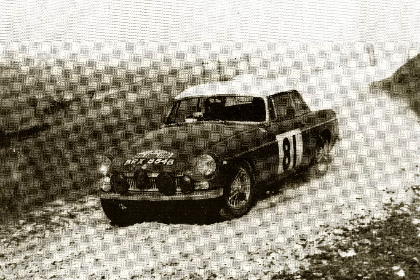 MGB Works Rally Car