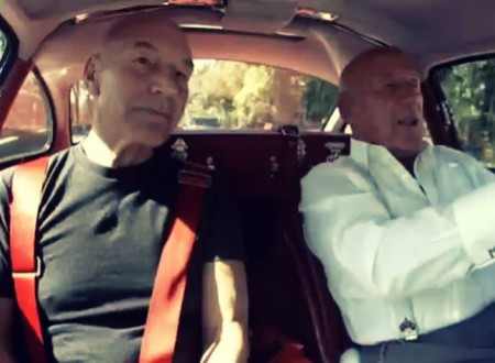 stirling moss and patrick stewart 450x330 - Racing Legends: Stirling Moss with Patrick Stewart