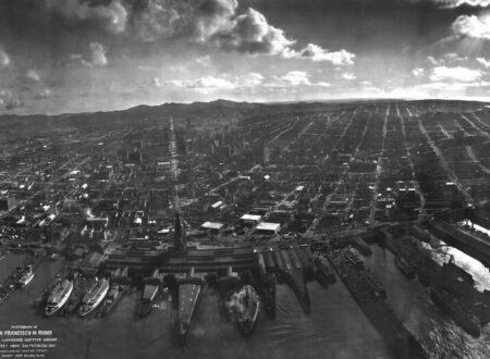 San Francisco in ruins from Lawrence Captive Airship 1906 450x330 - San Francisco In Ruins - 1906