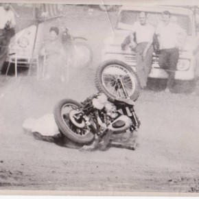 Vintage Motorcycle Crash