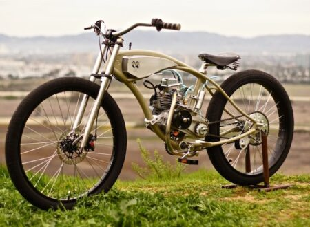 motorized bicycle 9 450x330 - Motorised Bicycle by Wolf Creative Customs