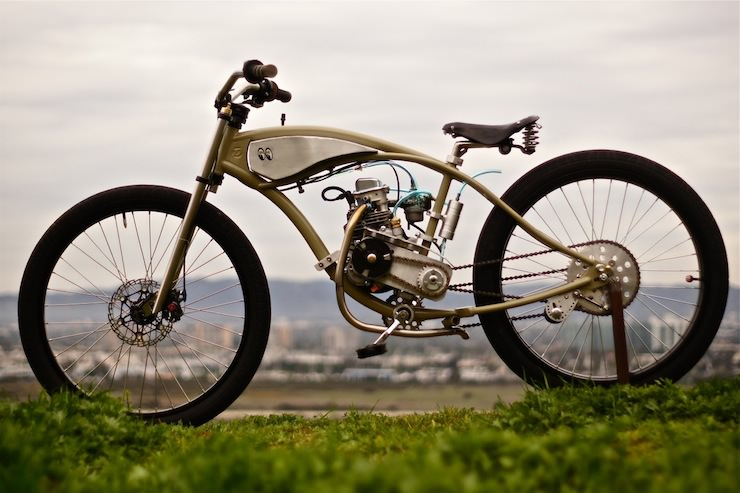 Motorised bicycle by wolf creative customs silodrome for Custom motorized bicycles parts