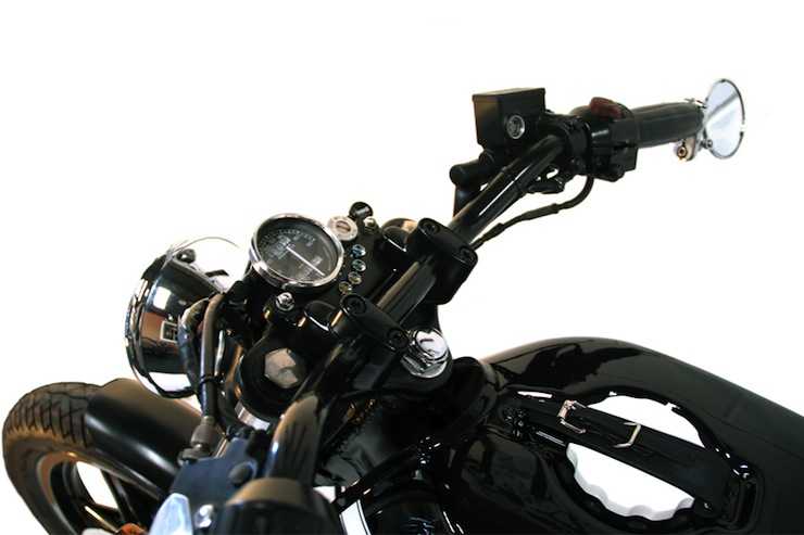 Honda CB250N Motorcycle handlebars