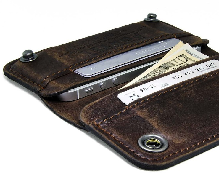 Leather iPhone Wallet by Portel