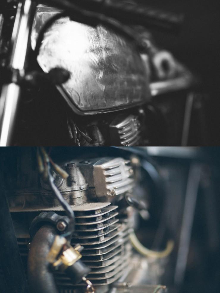 Yamaha XS 360 fuel tank