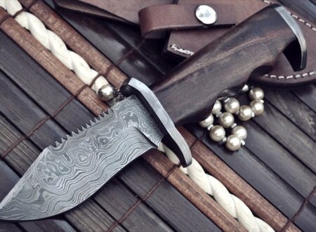 damascus steel knife 450x330 - Commando Knife by Perkin Knives