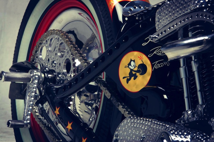 harley davidson custom motorbike engine