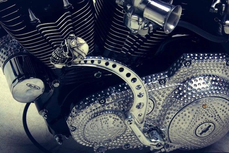 harley davidson custom motorbike gear shifter