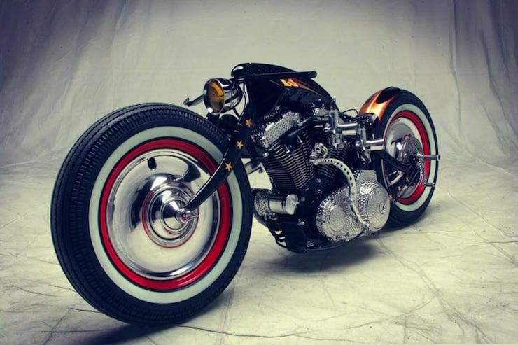 harley davidson custom motorbike