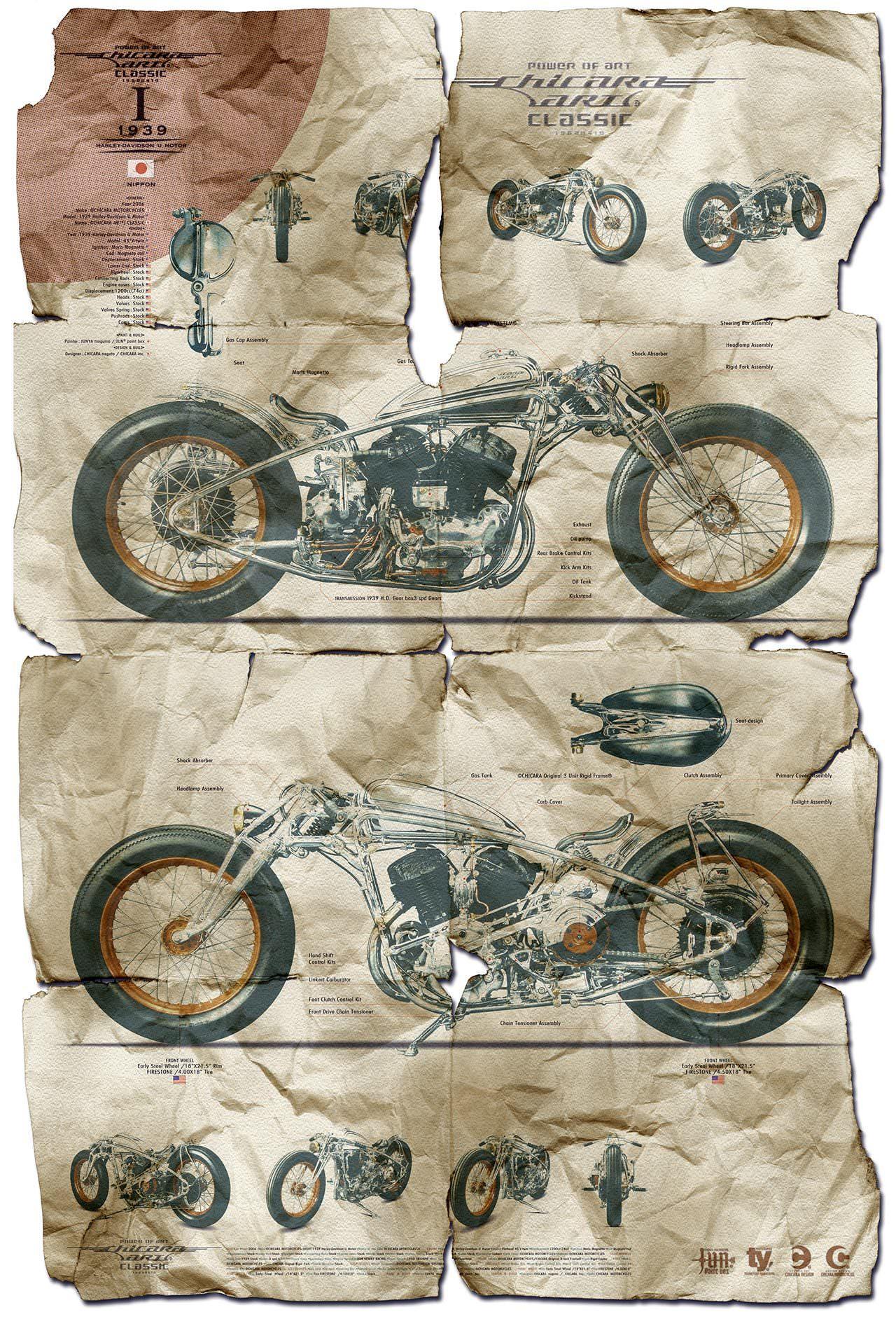 Chicara Nagata Poster The Motorcycles of Chicara Nagata