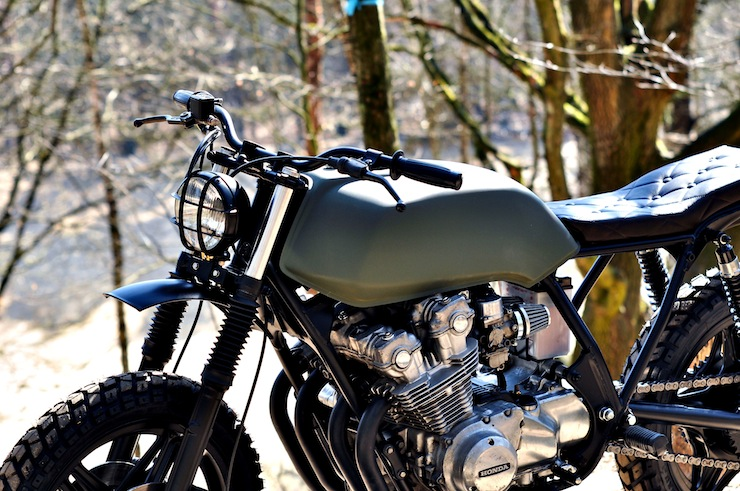 Honda CB750 Scrambler Motorbike Front