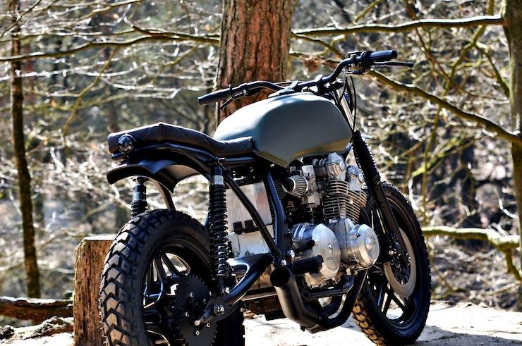 Honda CB750 Scrambler Motorbike Rear
