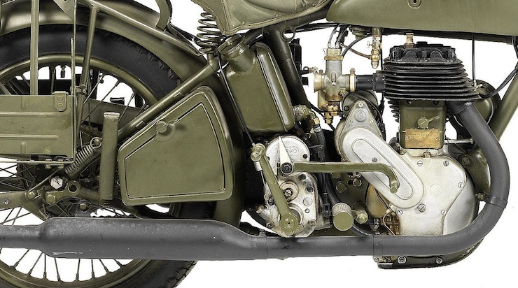 Norton 490cc Model 16H Military