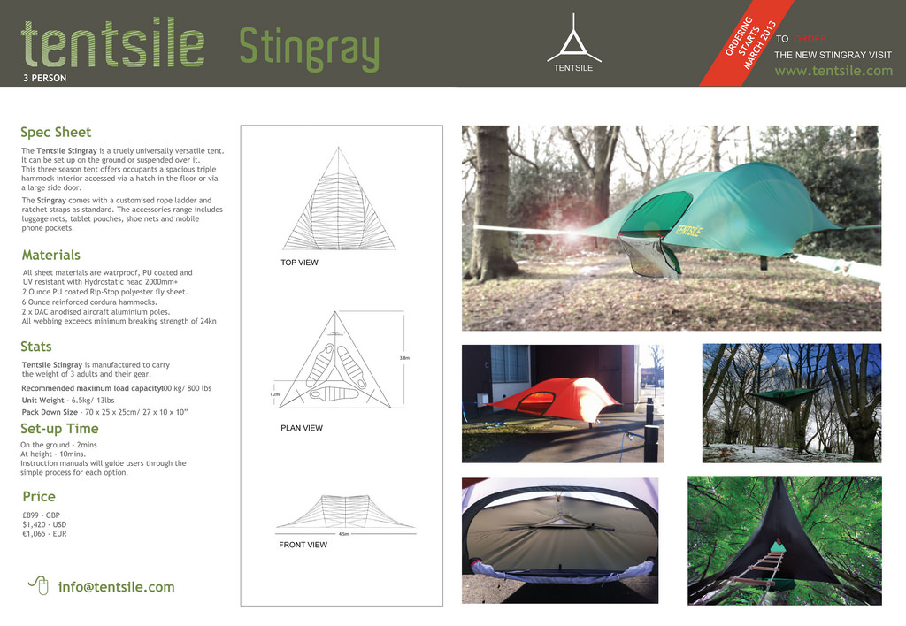 Tentsile Sting Ray Tent. 5