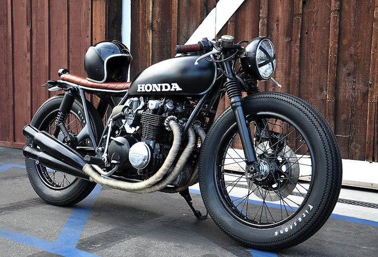 Honda CB550 Cafe Racer Custom By Seaweed Gravel