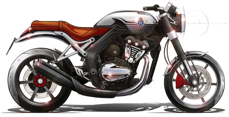 Horex VR6 Design Sketch Motorcycle