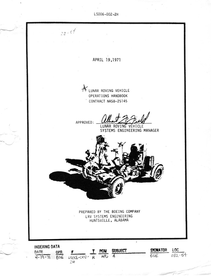 Lunar Rover Operations Handbook 2 Lunar Rover Operations Handbook