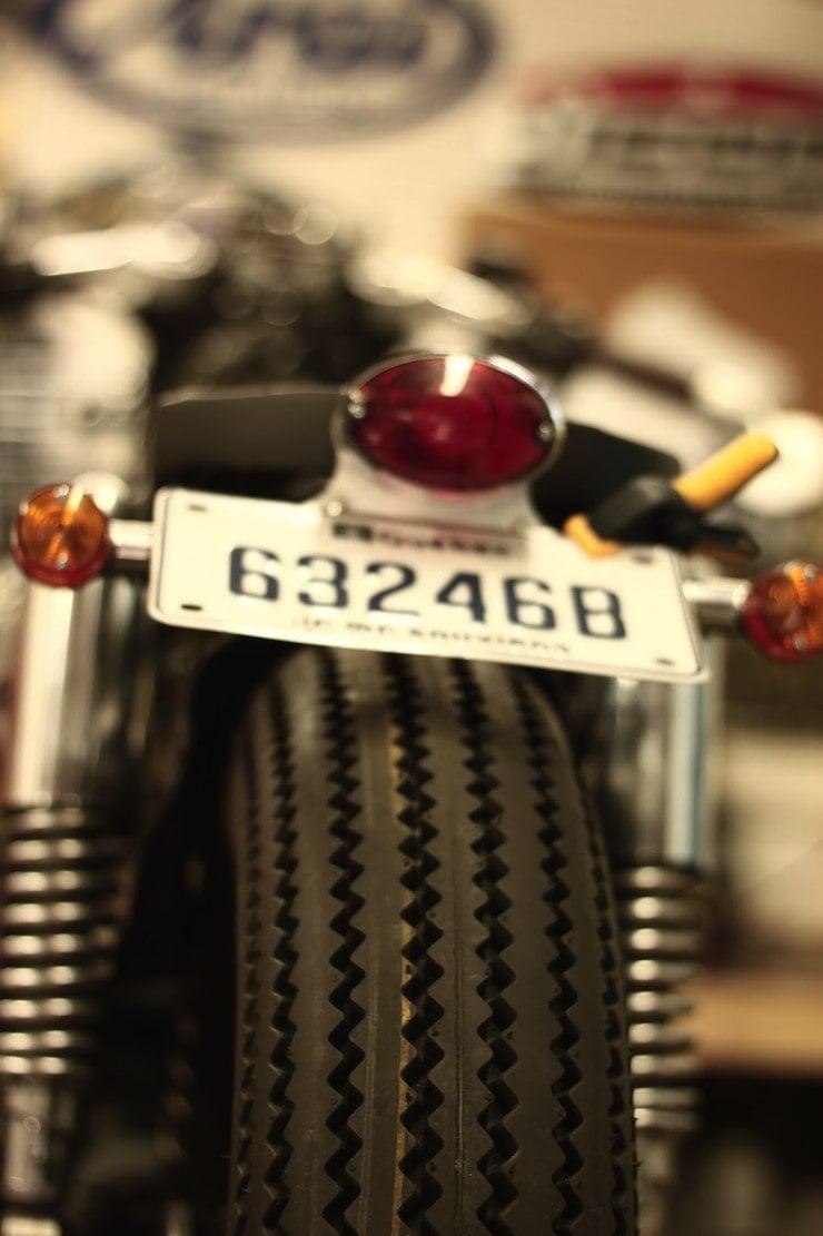 honda cx500 custom motorbike