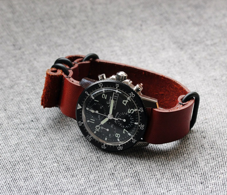 retro grain nyc strap full watches nato brick watch