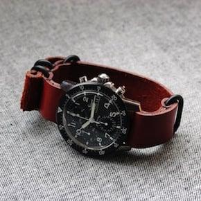 retro watch strap1 - Brick Full Grain NYC NATO Watch Strap
