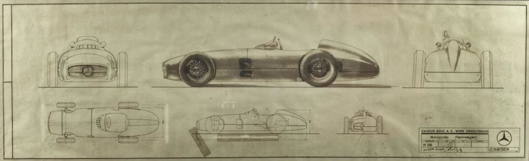 1954 Mercedes-Benz W196R Formula 1  Blue Prints