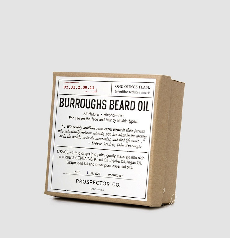 BURROUGHS BEARD OIL Box