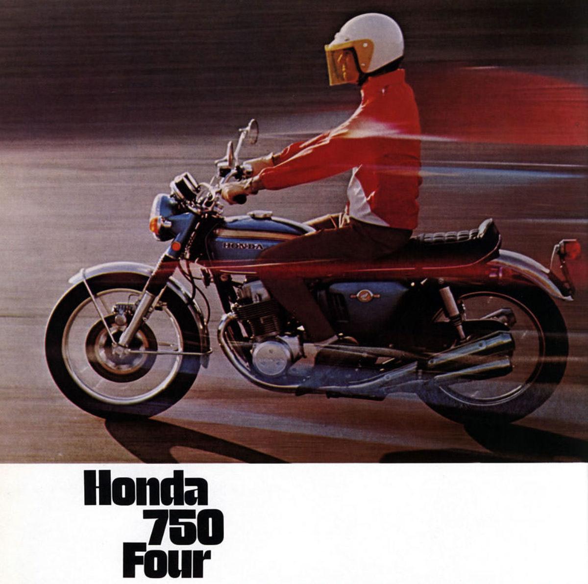 Honda CB750 K0 Blue  T shirt NOS classic bike Large