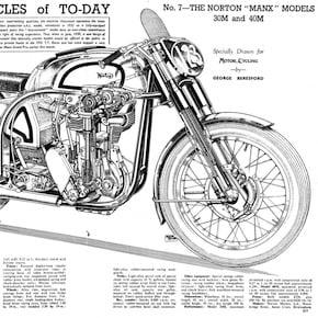 Norton Manx Motorcycle Cutaway1 - Norton Manx Cutaway