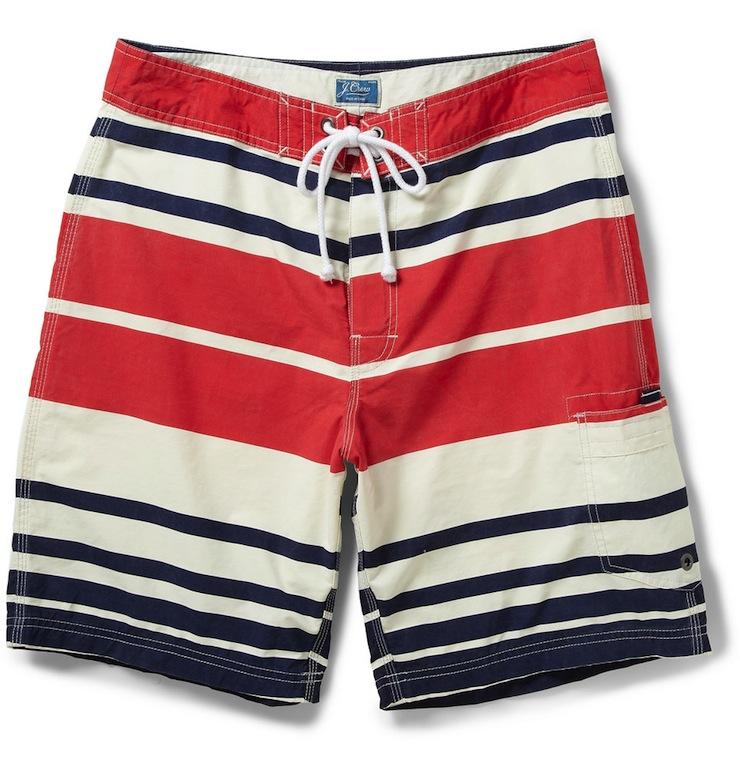 Striped Swim Shorts by J. Crew Striped Swim Shorts by J. Crew