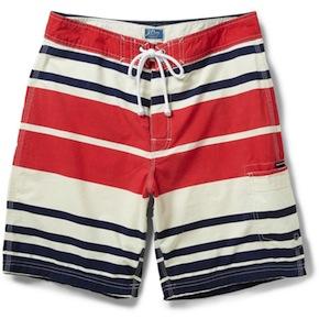 Striped Swim Shorts by J. Crew