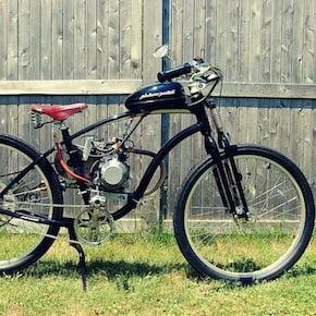 motorized bicycle 101 - The Pistone-Pedali Motorised Bicycle