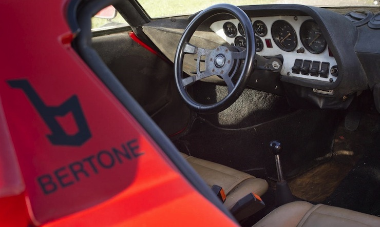 1972 Lancia Stratos Stradale inside