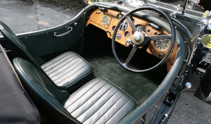 Bentley Petersen 3½-Litre Torpedo Roadster interior