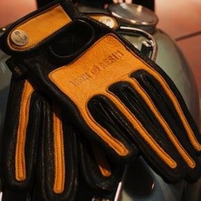retro motorcycle gloves - Iron & Resin x Vanson Riding Gloves