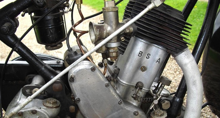 1928 BSA 557cc Sloper engine 1928 BSA 557cc Sloper
