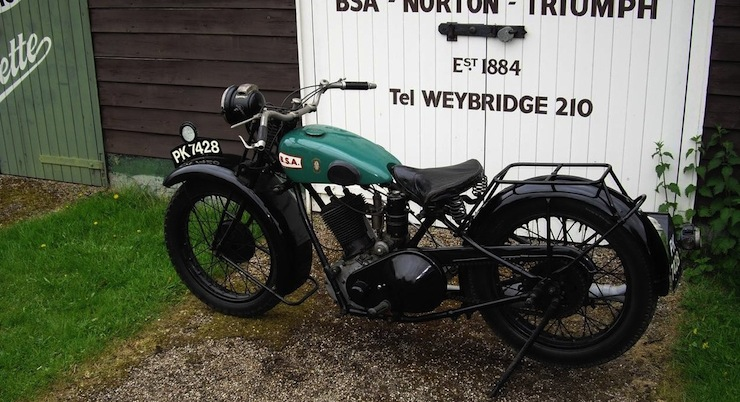 1928 BSA 557cc Sloper 1928 BSA 557cc Sloper