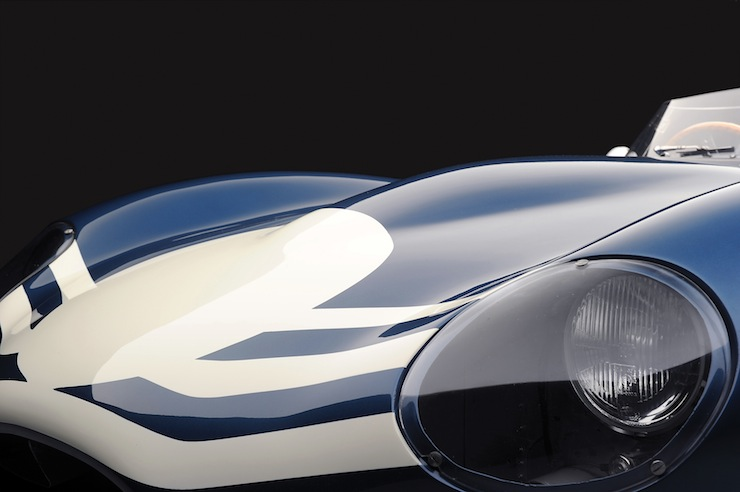 D-Type Jaguar headlight
