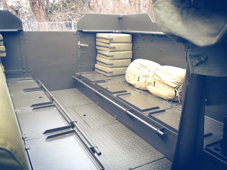 M3 Half-track tray back