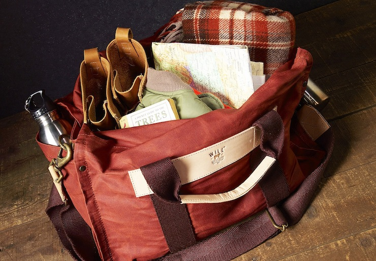 Wax Coated Canvas Duffle Bag WILL Leather Goods 2