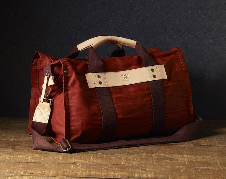 Wax Coated Canvas Duffle Bag WILL Leather Goods Canvas Duffle Bag by WILL Leather Goods