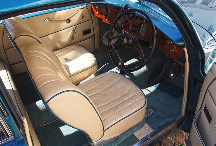 1953 Bristol 403 interior